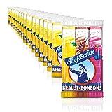Ahoj-Brause Brause-Bonbon-Stangen – BrauseBonbons verpackt als Stange – 3 verschiedene