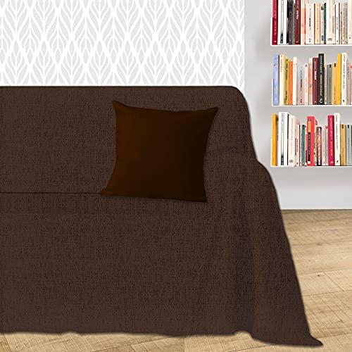 Byour3® Funda De Sofá Algodón 1 2 3 4 Plazas LIGERO Granfoulard Tela Sofa Cubre Todo Protector De Sofás Forma de L U Chaise Longue Derecho Izquierdo Lavable (Marrón Dakar, 4 plazas)