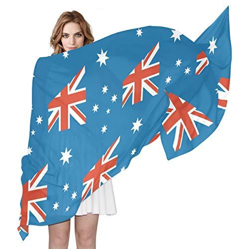 SD3DPrint Heard And McDonald Island Flag Damen Schal/Schal für Damen, 19,8 cm x 88,9 cm