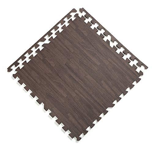 AWSAD Dalles en Mousse avec Bordure Tampon Facile À Nettoyer Chambre Balcon Sol Et Bébé, Pluralité De Couleurs, 30x30x2cm (Color : B, Size : 4-Tiles)