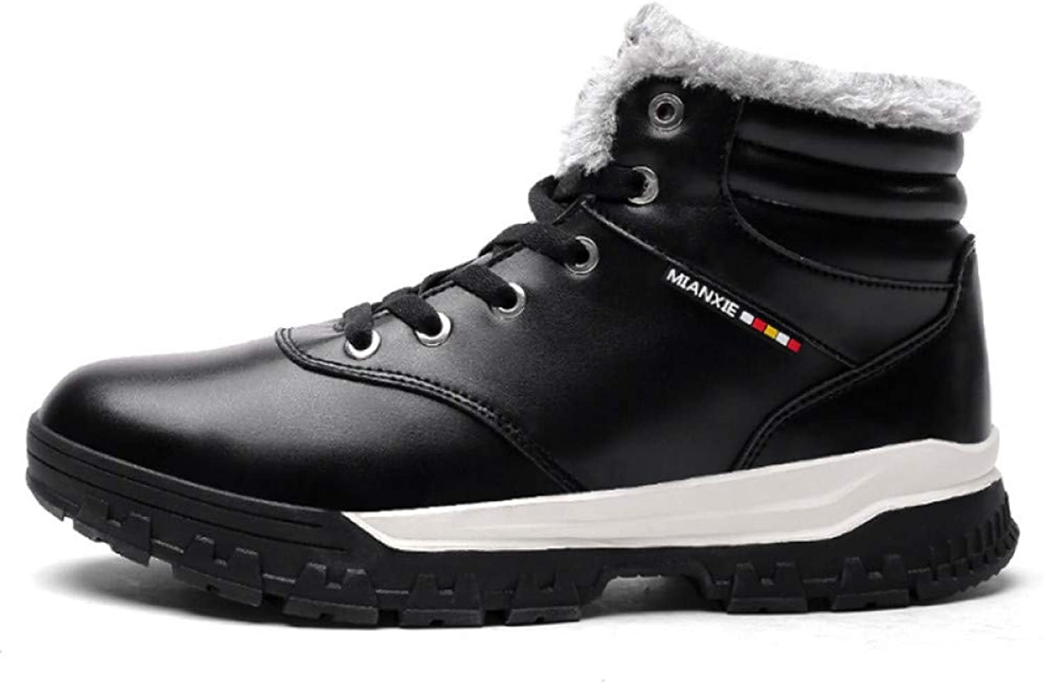 FHCGMX Winter Boots for Men Fashion Waterproof PU Casual Ankle Boots Keep Warm Cotton shoes Men Snow Boots