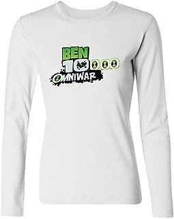 Tommery Women's Ben 10 Alien Force Logo Long Sleeve Cotton T Shirt