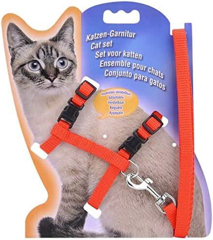 Doyeemei Arnés ajustable de nailon para mascotas, gato y ...