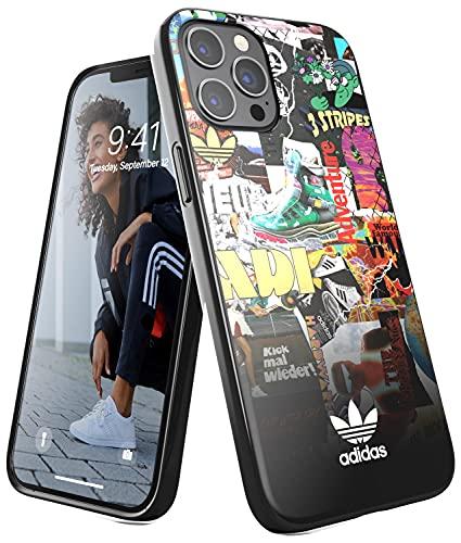 adidas Funda diseñada para iPhone 12 Pro MAX 6.7, Fundas a Prueba de caídas, Bordes elevados, Funda Original con diseño gráfico/Multicolor