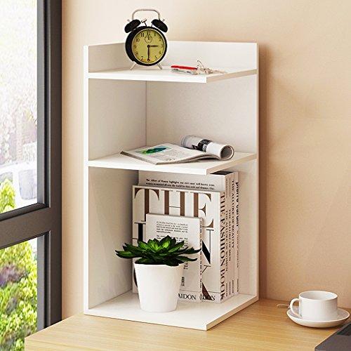 LITINGMEI Shelf Schreibtisch-Gestell-Ecken-hölzernes Buch-kosmetisches Speicher-Regal 30 * 30 * 60cm (Farbe : Weiß)