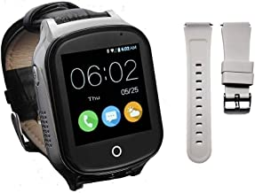 (Give Replaceable Strap) 3G GPS Watch for Kids Elderly,WiFi Phone Call, KKBear Real-time Tracking, Geo-Fence Touch Screen Camera SOS Alarm Anti-Lost GPS Tracker Suitable for Dementia Alzheimer's