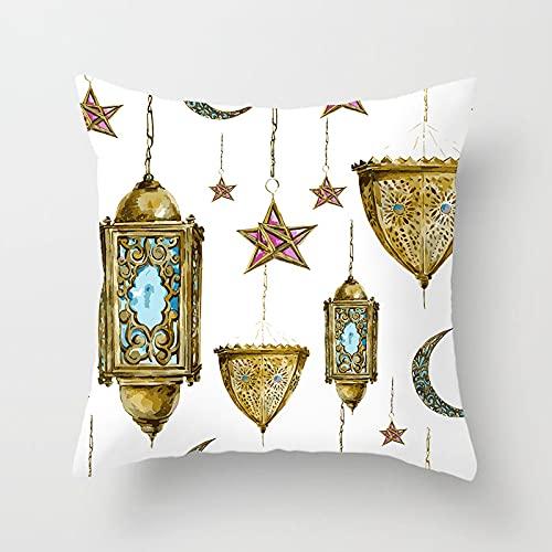 MissW Funda De Almohada Decorativa Fresh and Lovely Star and Moon Series Hogar Sin Núcleo De Almohada con Funda De Almohada con Cremallera Adecuada para Sofá Oficina Coche
