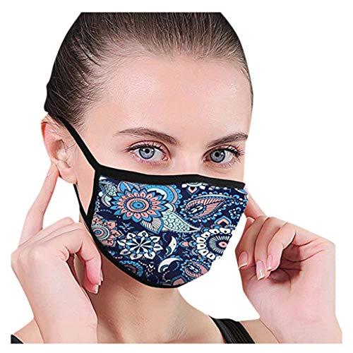 Alifewill Face Cover Multifunktionstuch Baumwolle Mundschutz Staubdicht Atmungsaktiv, 2 STK