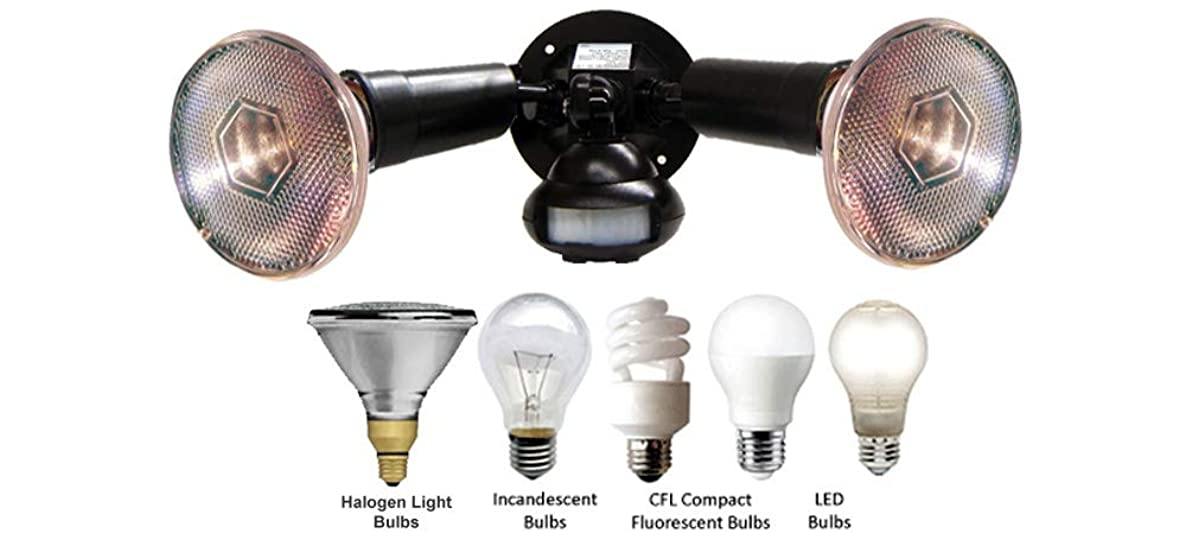 Dual-Head Outdoor Flood Light with Motion Activated Sensor