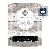 Wanders24® Kreidefarbe (750 ml, fernes Schwarz) Holzfarbe für Shabby Chic Look - Möbelfarbe einfach zu verarbeiten - Möbellack auf Wasserbasis - Made in Germany