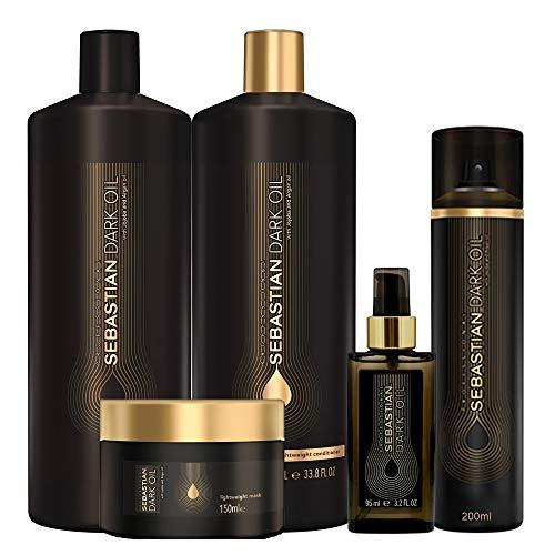 Kit Shampoo Condicionador Máscara E Condicionador à Seco e Óleo Sebastian Professional Dark Oil