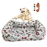 cuccia cane,cuccia gatto, interno esterno lettino cuscino per cani cucce per cani in morbido cotone adatto per diverse dimensioni di cani gatti – impermeabile ed antiscivolo (argento, l)