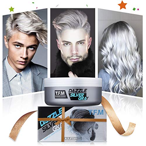 Hair Dyes Y F M Hair Cream Silver Gray Hair Wax Temporary Hairstyle Cream Natural Silver Ash Matte Hairstyle Wax For Men And Women 120ml Buy Online In Moldova At Moldova Desertcart Com Productid 81781593