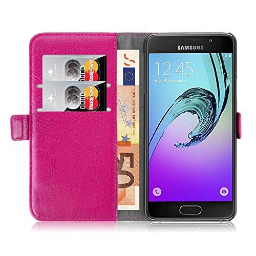 iPro Accessories Schutzhülle für Samsung Galaxy A3 2017, PU-Leder, stoßfest, Kunstleder, rose, Samsung Galaxy A3 2017