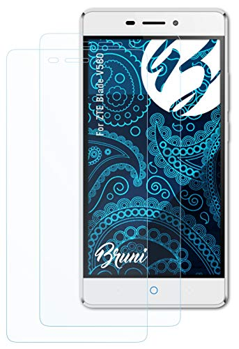 Bruni Schutzfolie kompatibel mit ZTE Blade V580 Folie, glasklare Bildschirmschutzfolie (2X)