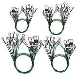OriGlam 40 piezas de alambre de pesca líderes líderes de pesca, 30 libras prueba de acero inoxidable resistente, líderes de alambre de pesca, líderes de línea de pesca