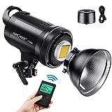 K&F Concept - SL-60W LED Video Luz Blanca 5600K Versión, 60W CRI 95+, TLCI 95+ con Control Remoto y Reflector, Montaje Bowens de Iluminación Continua para Video, Fotografía al Aire Libre, Foco Led