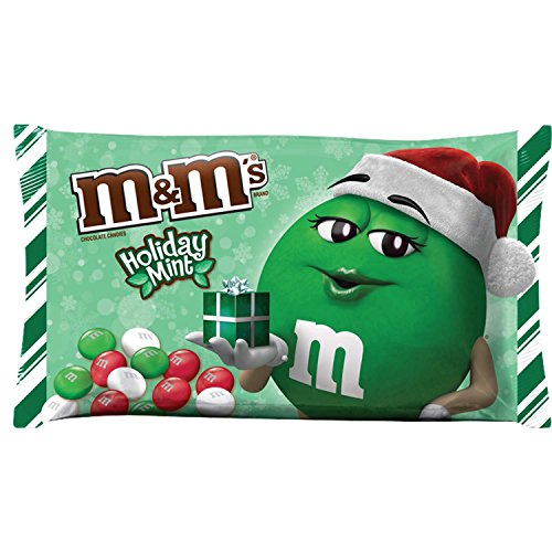 M&M'S Christmas Mint Chocolate Candy 9.9-Ounce Bag (Pack of 6)