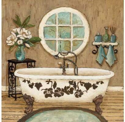 Full Round Drill 5D DIY Diamond Painting'Bathroom Scenic Bathtub' 3D Embroidery Cross Stitch 5D Home Decor Gift A5 60x80cm