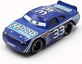 Disney 100% Disney Pixar Cars No.33 Mood Racer 1:55 Scale Diecast Metal Alloy Modle Cute Toys Car for Children Gifts No.33