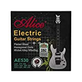 Alice AE530 - Juego de cuerdas para guitarra eléctrica extraligeras (0,008-0,038 pulgadas)