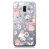 CASEiLIKE Coque Samsung J7 Duo 2018, Bouquets de Fleurs bohémiennes et Oiseau 2266, TPU Silicone Soft Housse Etui Coque pour Samsung Galaxy J7 Duo 2018