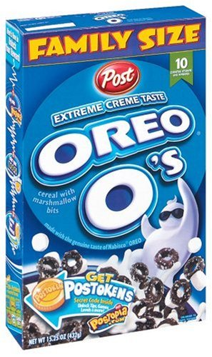 Post Oreo O'S Cereal with Marshmallow Bits, 15.25-Ounce Boxes (Pack of 5)
