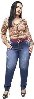 Calça Jeans Xtra Charmy Plus Size Skinny Cristiellen Azul