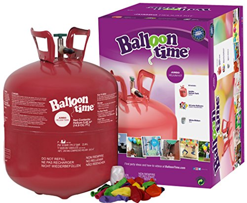 Balloon Time - Jumbo Botella de helio desechable para globos, multicolor (Worthington Cylinders BTT50) , color/modelo surtido