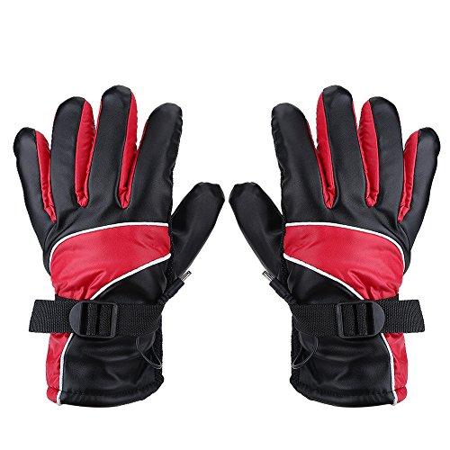 Motorhandschoenen winter warme lederen handschoenen schapenvacht verwarmde handschoenen mannen vrouwen motorrijden racen skiën rood blauw bruin M X XL