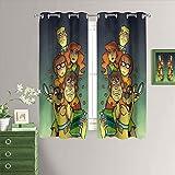 MRFSY Cortinas opacas con ojales, diseño de Scooby Doo, para decoración del hogar, con aislamiento térmico, ojales en la parte superior, para sala de estar, 106 x 107 cm