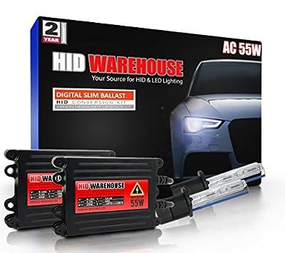 HID-Warehouse 55W AC Xenon HID Lights with Premium Slim AC Ballast
