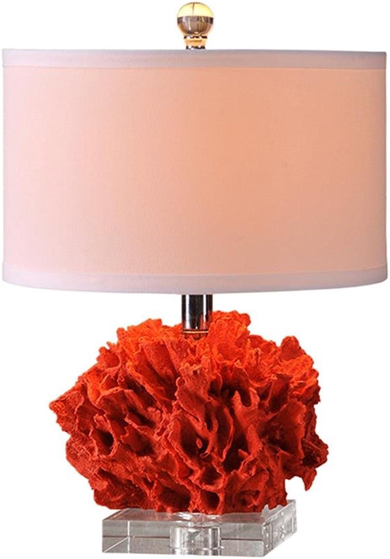 Tischlampe Schlafzimmer Nachttischlampe moderne europäische rote Tischlampe B07DF8P6XF       Großer Räumungsverkauf