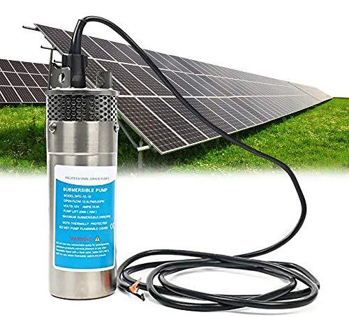S SMAUTOP Bomba sumergible de acero inoxidable Bomba de pozo profundo ultra silenciosa para estanques, acuarios, depósitos de aves, fuentes, sumergibles de irrigación (24 V)