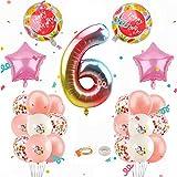 Herefun Unicornio Decoración de Cumpleaños para Niña, Globos Numeros Gigantes Unicornio, Globos de Cumpleãnos Unicornio, Globo Numero Unicornio, Decoraciones de Fiesta de Unicornio (6)