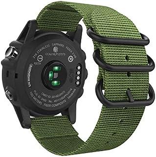 حزام ساعة رياضي بديل من النايلون 26 مم مع أدوات برغي من أجل Garmin Fenix 5X/3/3 HR/D2 Charlie-green