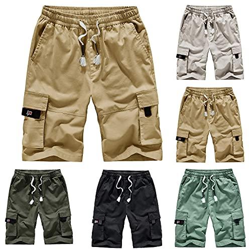 QiFei Heren shorts zomer chino jeans korte broek stretch jogger cargo shorts slim fit shorts heren korte broek outdoor casual cargo shorts bermuda zomer chino jogger broek