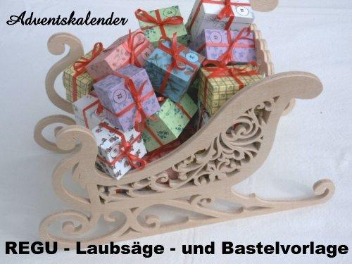 Advendskalender Laubsäge-Bastel-Vorlage