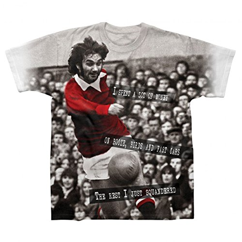 Manchester United Football Legend George Best Soccer Gift Mens T-Shirt Small Red