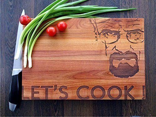 LET'S COOK handmade cutting board. Breaking Bad cutting board