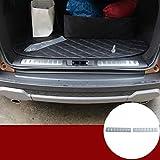 YIWANG Placa de acero inoxidable 304 para parachoques trasero, 2 piezas para RangeRover Evoque 2012-2019 accesorios para automóviles