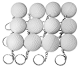Novel Merk 12 Pack Golf Ball White Keychains for Kids Party Favors &...