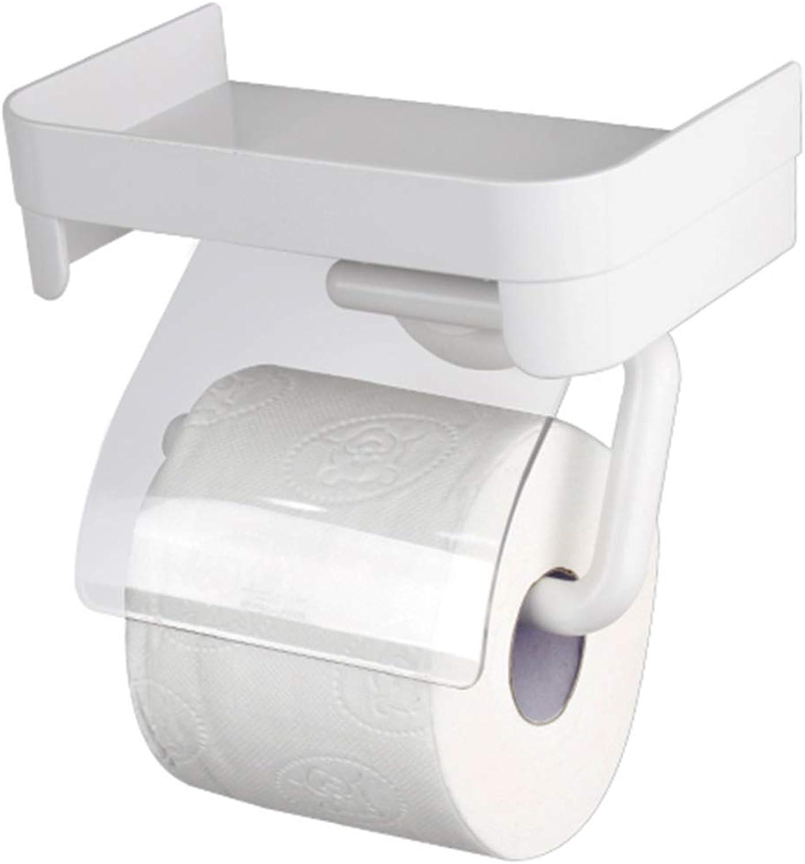punto de venta Gbf Portapapel higiénico Rack Space Punch-Free Portacepillos Portacepillos Portacepillos de Papel higiénico Porta Papel higiénico Impermeable (Color   blancoo, Talla   18.6  12.4  11.8cm)  grandes ofertas