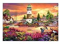 ジグソーパズル 水都市大人のパズルの家族と子供教育ゲームのおもちゃの家の木製のジグソーパズルパズル300/500/1000/1500ピース (Size : 500P)