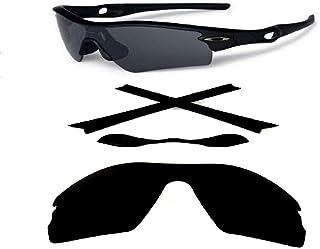 Galaxylense Men's Replacement Lenses + Nose Pad + Earsocks For Oakley Radar Path Black