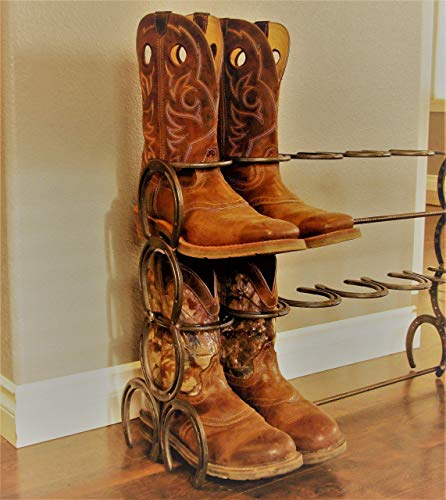 Amazon.com: Horseshoe Boot Rack: Handmade
