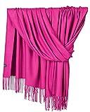 YAOMEI Unisex Mujer Bufanda, 2018 Mujer invierno lujosa ligera y suave Chales Estolas Fulares Bufanda Pañuelo caliente (78.74 * 27.56 pulgadas (200 cm * 70 cm), Rose)