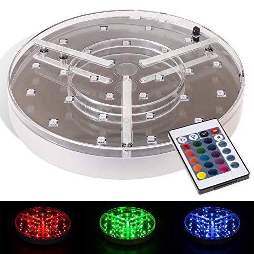 DILAW® LED Untersetzer Big Size Ø 20 cm - mit Fernbedienung 16 Farben
