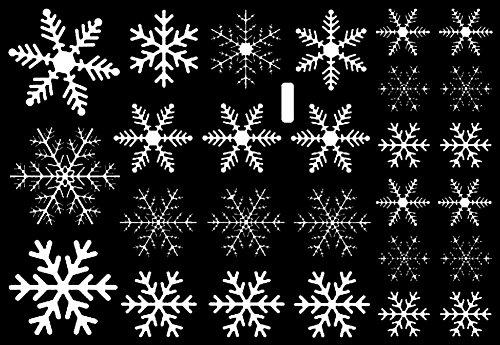 Demarkt 1 Set Autocollants Flocon de Neige Autocollants D'album Bricolage Mur Fenêtre Autocollants pour Mural Fenêtre Cadeau de Noel