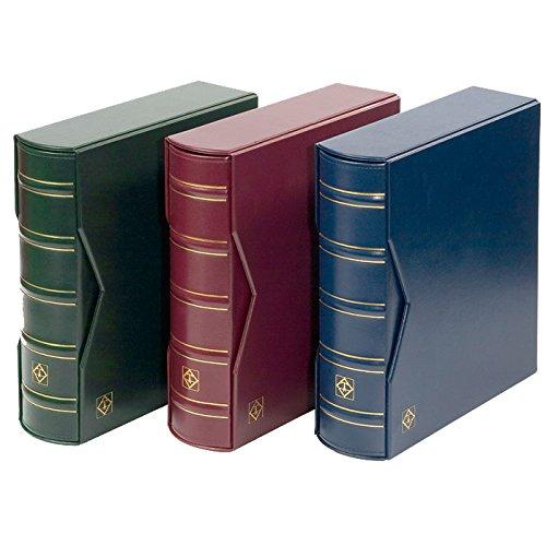 Leuchtturm Sammel-Album für 200 First-Day-Cover FDCs oder Briefe in C6, inkl. Schutzkassette, blau